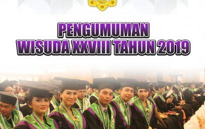 PENGUMUMAN WISUDA XXVII IHDN DENPASAR TAHUN 2019