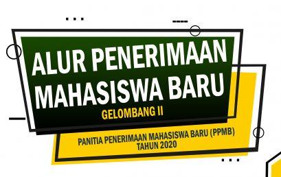 ALUR PENDAFTARAN PENERIMAAN MAHASISWA BARU GELOMBANG II TAHUN 2020